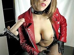 German Redhead Slut Smokes & Sucks Dildo