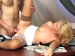 Russian mature fucks with a young