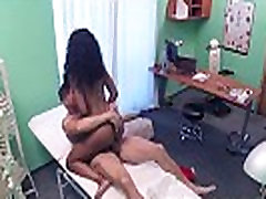 Doctor fucks black cleaning lady in office