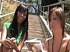 Interracial group blowjob from a ebony slut 12