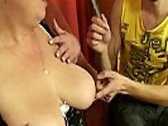 3some sex with mature plumper POV
