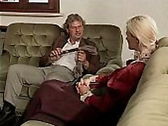 Vintage hot blonde sucking and riding a cock