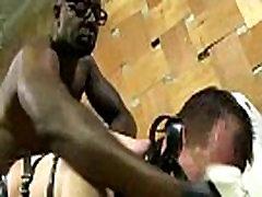 Blacks On Boys - Gay Interracial Bareback Fuck Movie 20