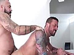 Muscle bear barebacks and sucks in fourway