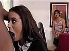 Lana Rhoades sucks huge black cock for family