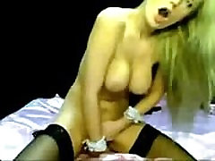 barecamgirl.com blonde with black stockings play with dildo in the ass webcam show