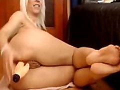 mature blonde anal on webcam