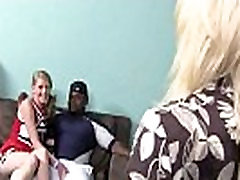 Big tits white cougar fucks a lucky black guy 7