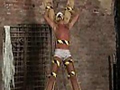 Gay bondage muscle and crucified self bondage New marionette dude