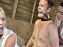 CFNM femdoms demand doggystyle in barn