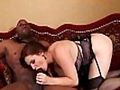 This mature loves big black cock up her pussy