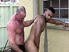 Mature Mickey Collins rimming Rikk Yorks ass