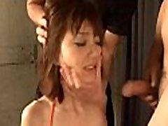 Lengthy hairy oriental deepthroat action