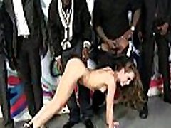 College slut gangbanged by three black cocks 12