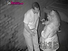 Hidden camera caught horny couple in alley on SpyAmateur.com