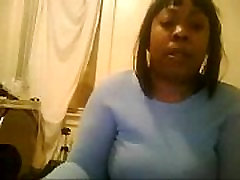 freaky thick black girl from BlacksCrush.com masturbates