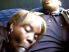 black couple fromo BlacksCrush.com blowjob on the train