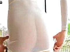 Cute girl in white dress