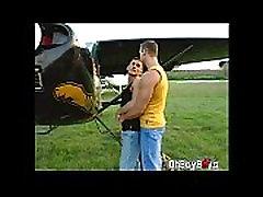 Hot twinks fucks anal inside the plane