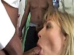 Pretty woman gangbanged by 3 big black dicks 01