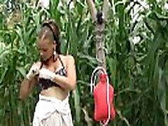 Kinkycore Milk enema in the garden