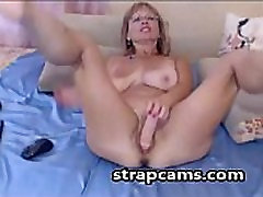 Busty hot mature deep toying wet pussy