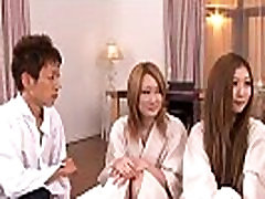 Asian sluts getting fucked in a hot foursome
