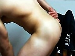 Gay Muscle Boy Oil on Bubble Ass Playing with Asshole on