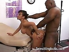Big tit Asian nurse checking this guy out
