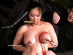 Tigerrs asian bdsm and oriental tit tortures of busty japanese slave girl