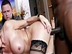 Mom makes son watch her get fucked by big black cock 384