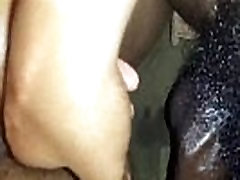 Fingering a Black Squirter CLose Up