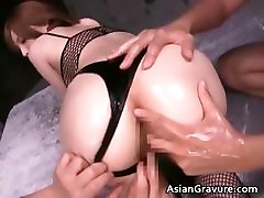 Sexy asian babe with great booty takes part5