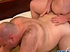Big gay bears humping doggy style gay porn