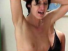 Nasty sexy hot brunette school girl gets