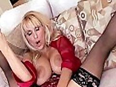 Horny big-tit MILF slut fucks her daughter&039s bf&039s