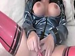 Big tits babe toys her pussy
