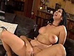 Black haired MILF with big tits gets fucked