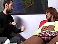 Hot ebony chick love gangbang interracial 13