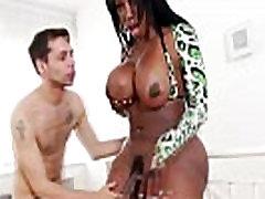 Ebony shemale tranny sucks