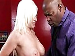 Mature lady gags and gets banged by a black cock 4