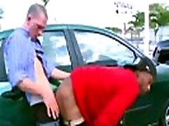 Interracial gay anal fuck in public carpark