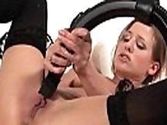 Cute maid masturbating with a vacuum cleaner