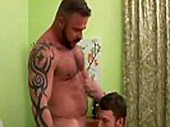 Hard cock bear gay gets sucked off
