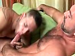 Horny gay bear hunk loves fucking