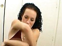 Hot brunette girl deepthroat
