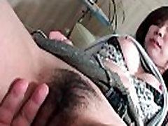 Asian Slut Enjoys Hairy Pussy Fingering