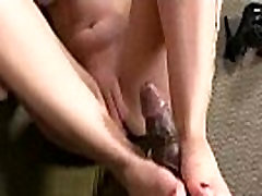 Foot fetish - Sexy babes fucking cock with their feet 08