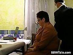 Kinky sex game with horny BBW slut