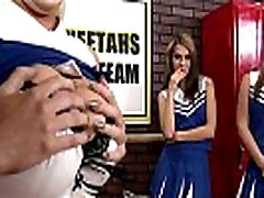 Slutty cheerleaders Alexis Ford and Courtney Cummz share big-dick